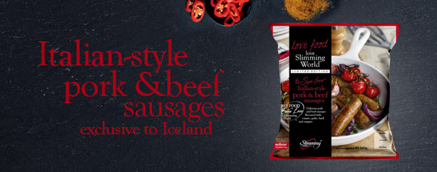Syn-free Italian-style pork & beef sausages