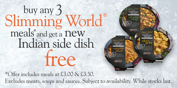 Buy any 3 Slimming World meals or meats and get one of these vegetable medleys free