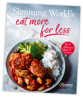 Slimming worlds eat more for less available now news stories your food bill youll love our new cookbook slimming worlds eat more for less features over 60 free and low syn dishes that cost around 67 or less forumfinder