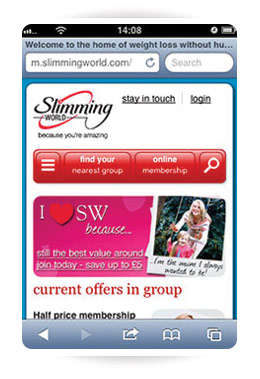 Slimming world is mobile friendly news stories slimming world Slimming world app for members