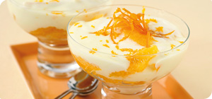 Apricot and orange syllabub