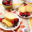 Arctic roll with summer berries