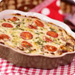 Bacon and mushroom crustless quiche