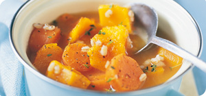 Barley and butternut squash hot pot