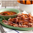 Slow-cooked bbq gammon