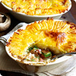 Chicken and mushroom pies