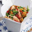 Chinese salmon noodle salad