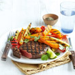 Chipotle steak with sweet potato chips