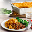 Cottage pie with swede mash topping