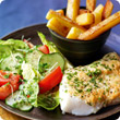Crispy cod and chips