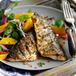Grilled mackerel with rosemary and garlic