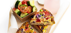 Ham and pea frittata