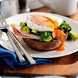 Luxury eggs florentine