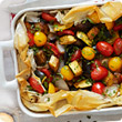 Mediterranean vegetable filo tart