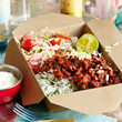 Mexican burrito bowl with herby rice