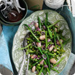 Mixed summer bean salad