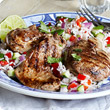 Piri piri lamb with rice salad