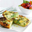 Potato and spring vegetable tortilla