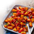 Roasted squash with red peppers