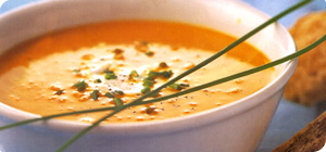 Squash and red pepper soup