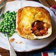 Steak and kidney pie with mash