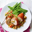 Stuffed chicken with herby couscous