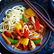 Sweet and sour Quorn with noodles