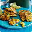 Sweetcorn & chive fritters
