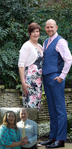 Couple flying high after losing weight